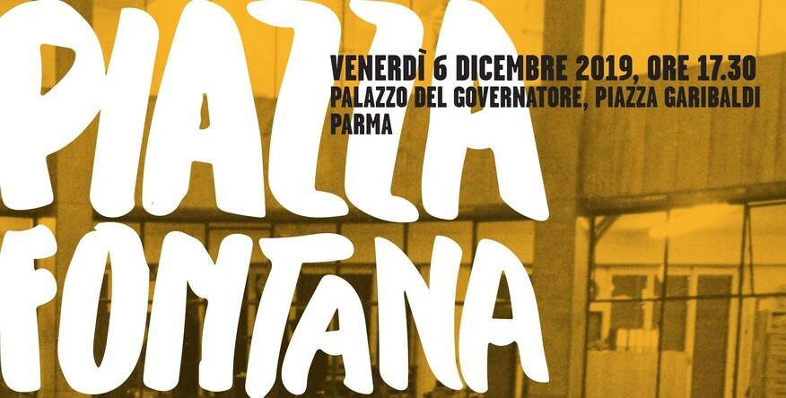 Piazza Fontana, 12 dicembre 1969  incontro a Palazzo del Governatore con Benedetta Tobagi