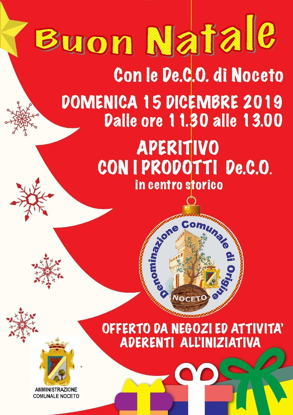 Buon Natale con le De.C.O. di Noceto
