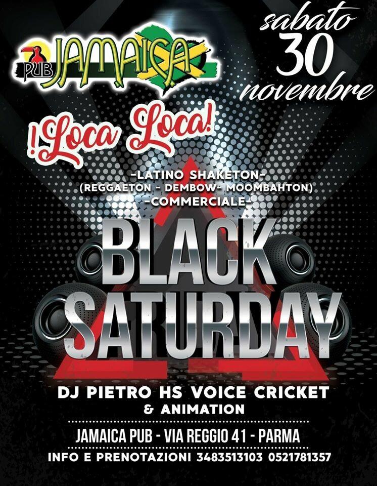 Sabato al Jamaica è BLACK SATURDAY