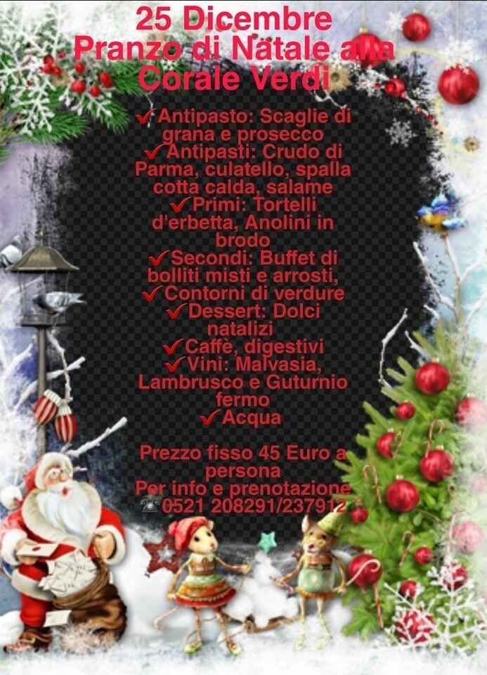 Natale al ristorante Corale Verdi