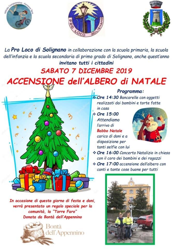 Accensione dell'albero di Natale a Solignano