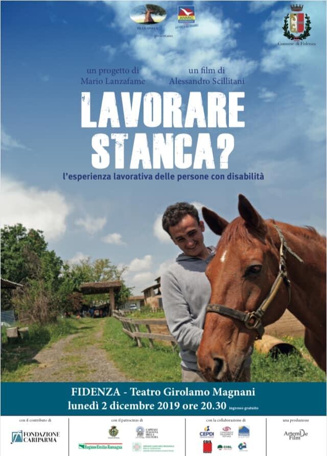 """""""LAVORARE STANCA?"""" proiezione del documentario  sull' esperienze lavorative di giovani ragazzi disabili al Teatro Magnani."""