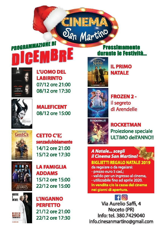 Cinema San Martino Noceto - programmazione fino al 22/12/2019