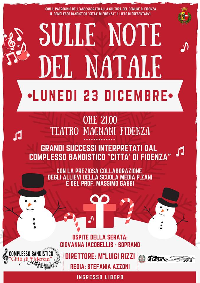 """SULLE NOTE DEL NATALE concerto della Banda """"Città di Fidenza""""  al Teatro Magnani"""
