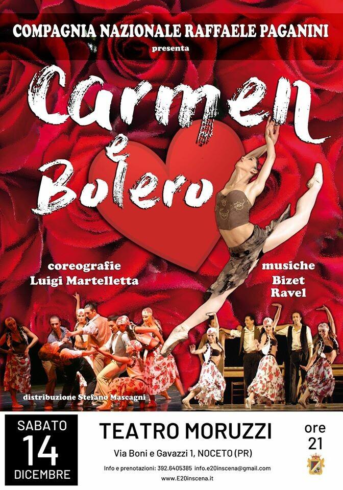 CARMEN E BOLERO Compagnia Almatanz di Luigi Martelletta e Compagnia Raffaele Paganini al teatro Moruzzi