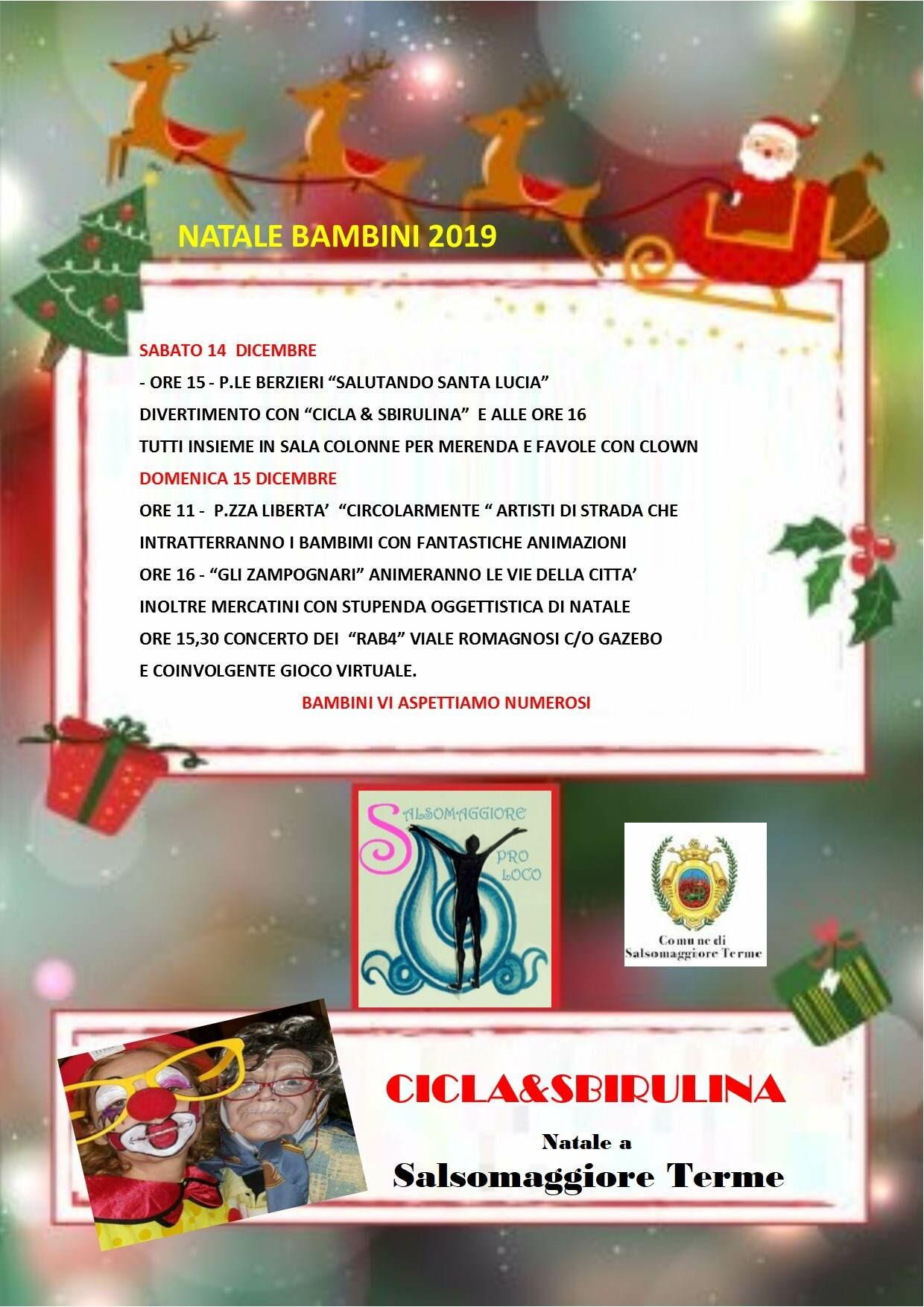 Natale bimbi 2019 a Salsomaggiore