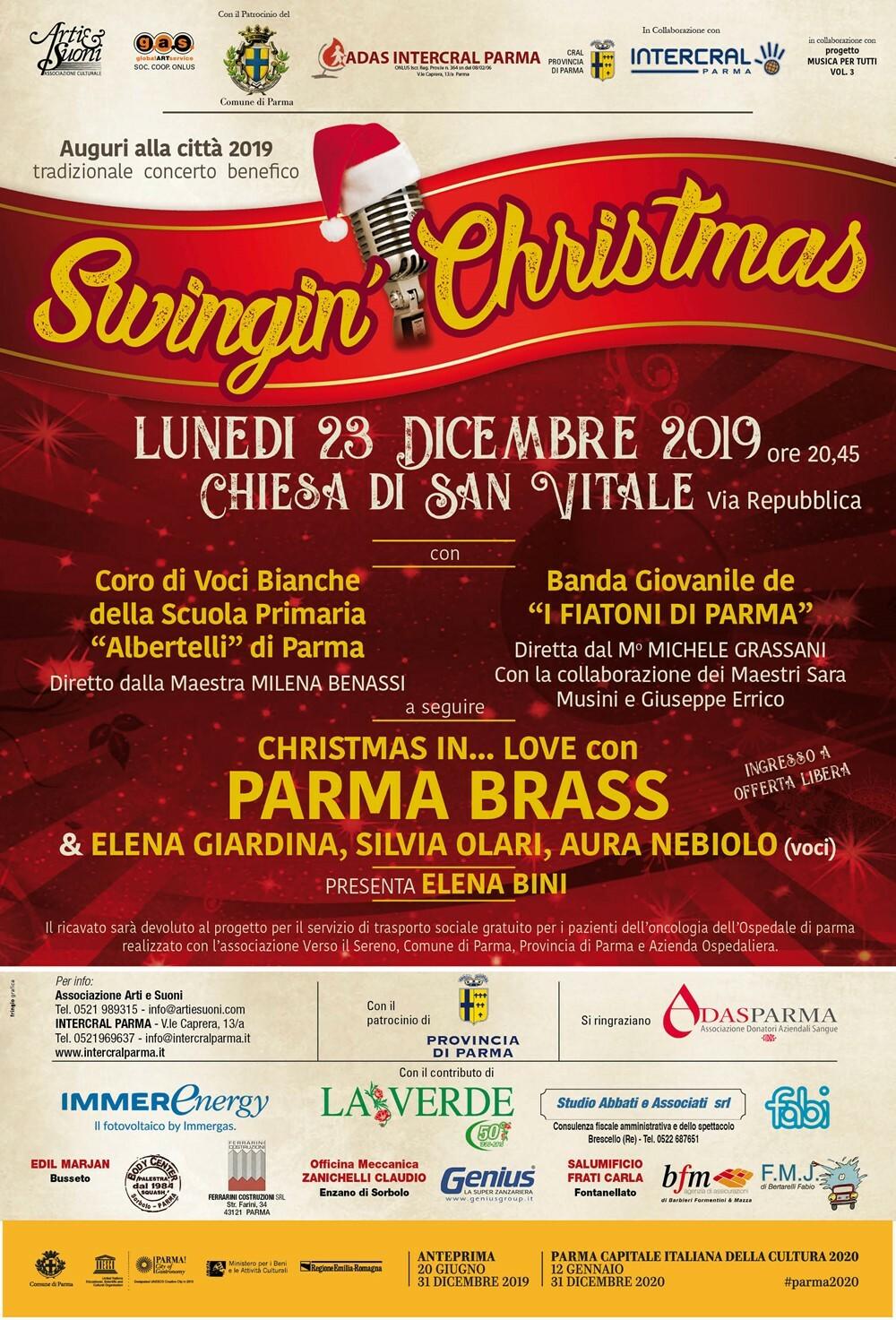 Swingin' Christmas Il 23 dicembre il concerto benefico proposto da Adas Intercral e Associazione Arti e Suoni