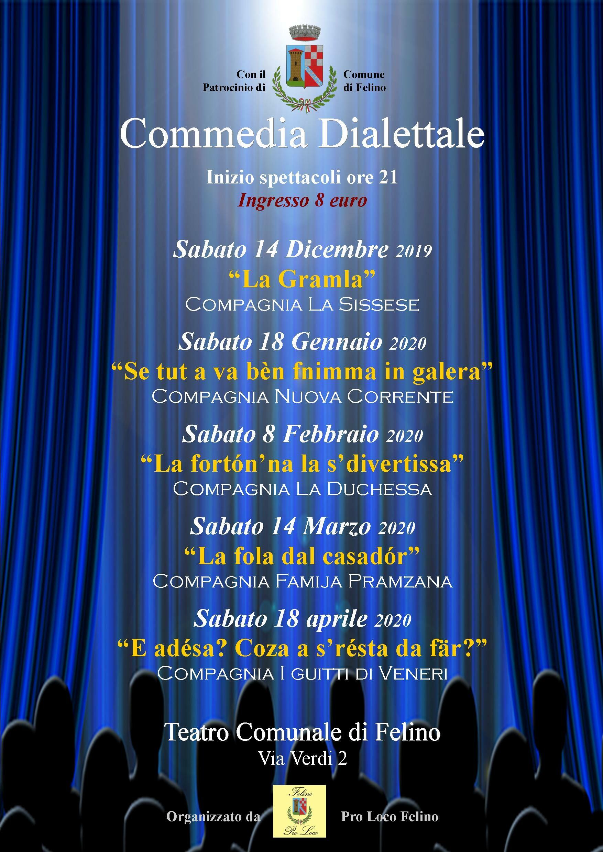 Rassegna dialettale 2019/2020 a Felino, tra risate e tradizione