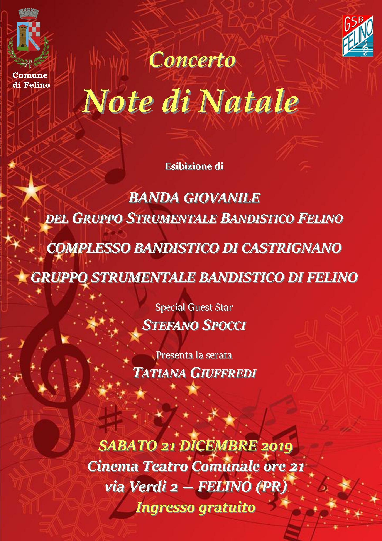 Note di Natale: Bande di Felino e Castrignano in concerto