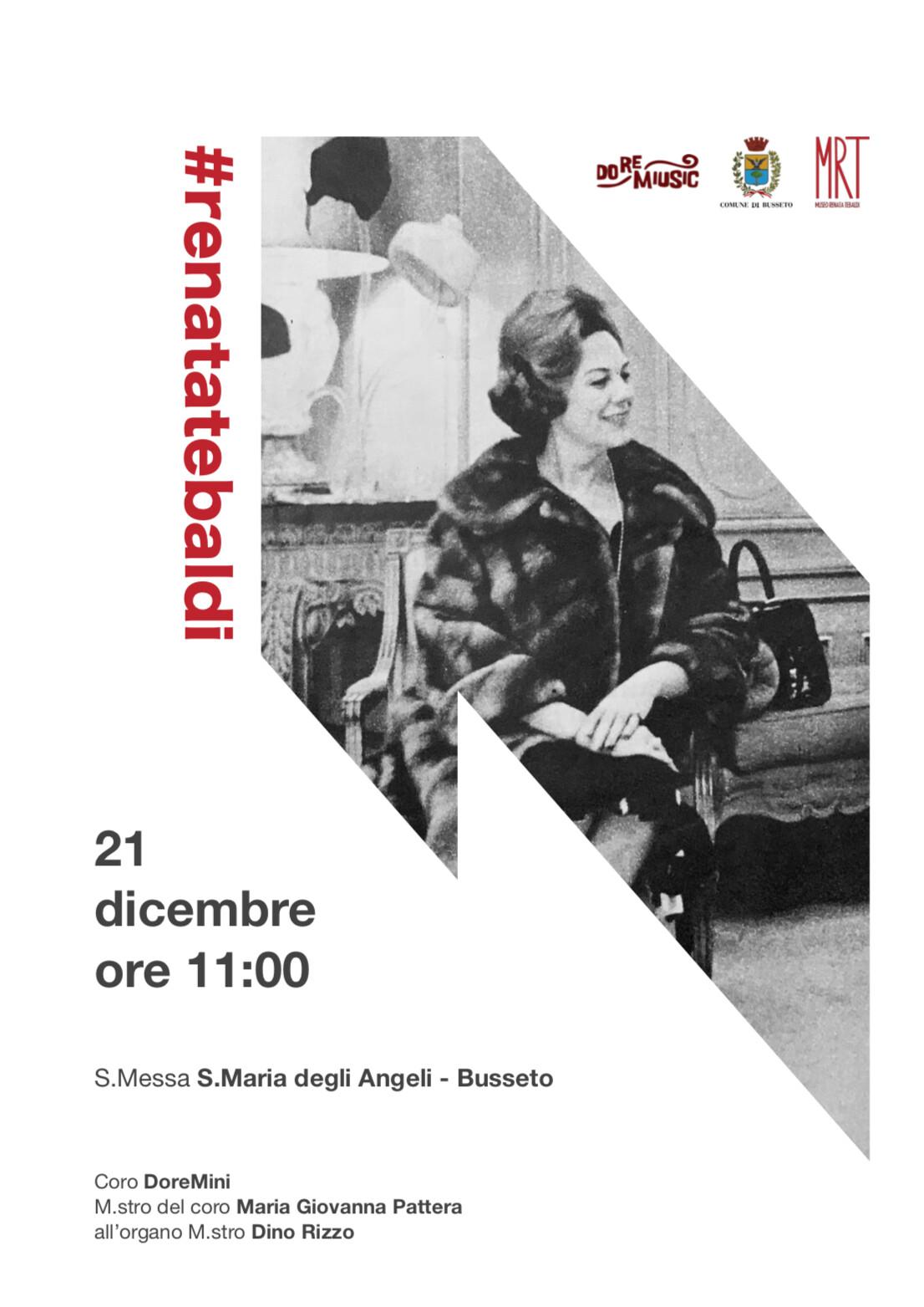 In occasione del 15° Anniversario della morte di Renata Tebaldi,  Messa in Suo ricordo