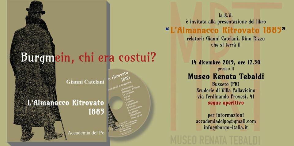 """Presentazione del libro """"L'almanacco ritrovato"""" del M° Dino Rizzo e di Gianni Catelani"""