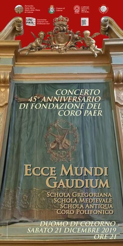 Concerto del 45° anniversario del Coro Paer