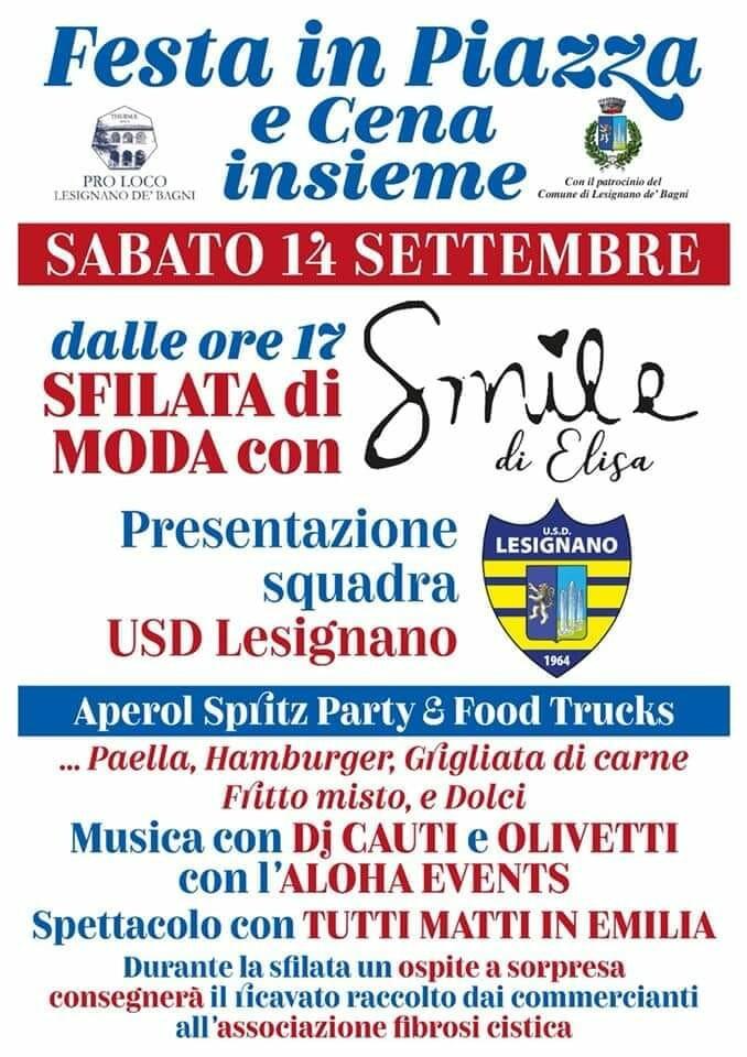 Festa in piazza a Lesignano