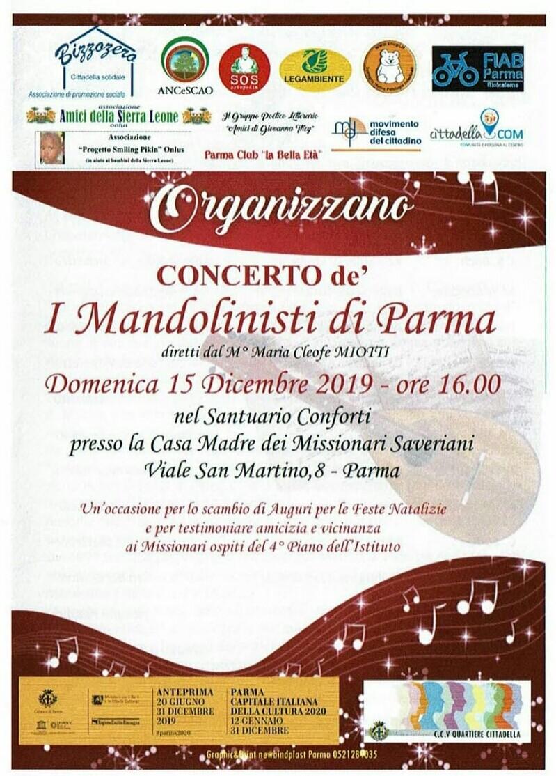 """Concerto dell'Orchestra a Plettro denominata """"I Mandolinisti di Parma"""""""