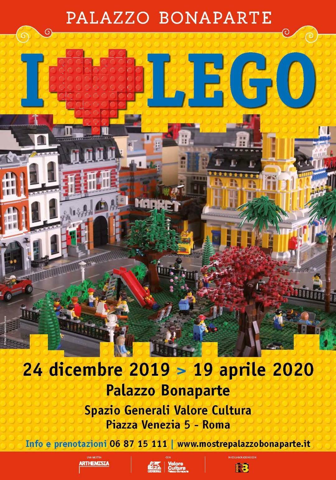 ARRIVA A ROMA > I LOVE LEGO > dal 24 dicembre 2019 a Palazzo Bonaparte