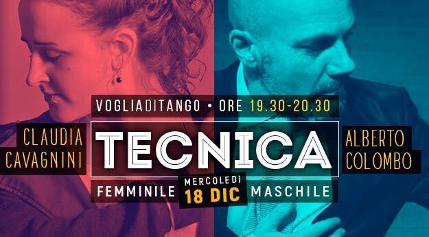 Voglia di Tango: tecnica Maschile A.Colombo e Tecnica Femminile C.Cavagnini