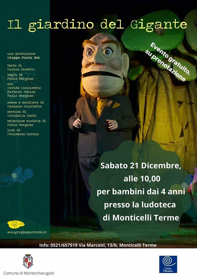 IL GIARDINO DEL GIGANTE presso la Ludoteca di Monticelli Terme