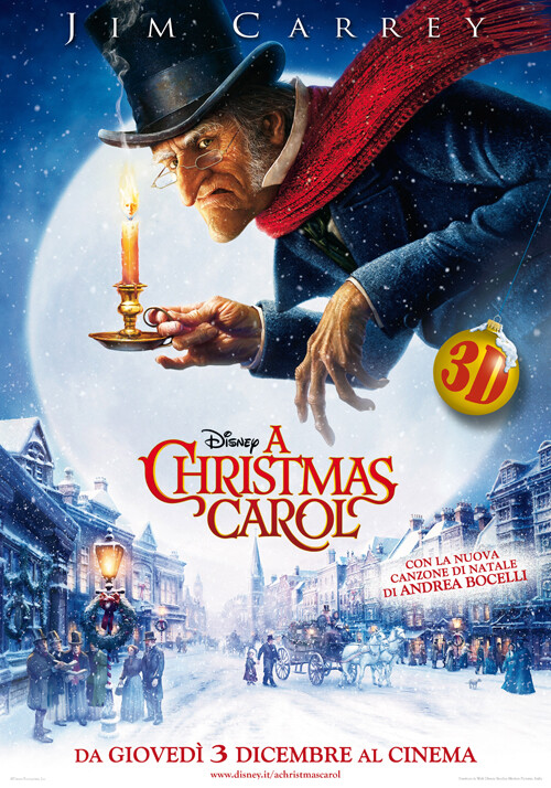 A CHRISTMAS CAROL                 di Robert Zemeckis. Con Jim Carrey, Gary Oldman (Fantastico-92')  al Cinema D'Azeglio