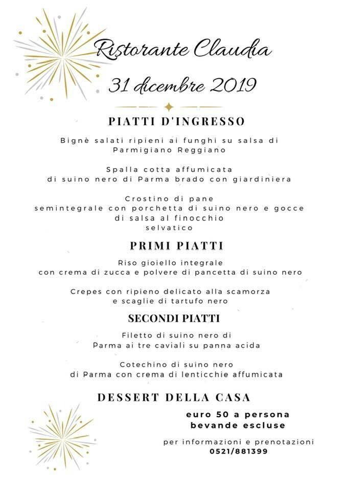 San Silvestro al ristorante Claudia