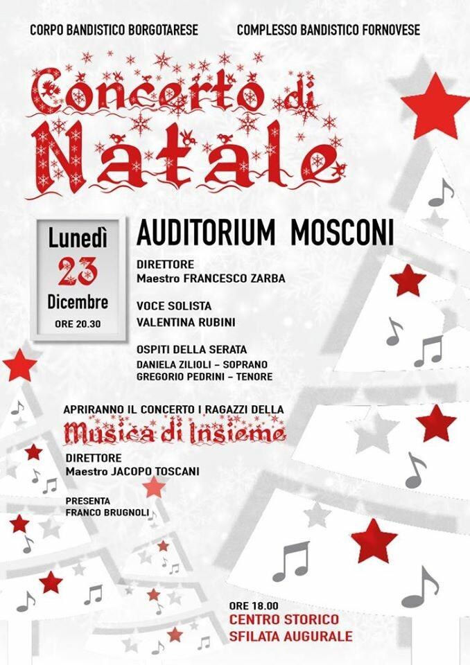 Concerto di Natale all'auditorium Mosconi