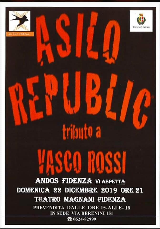Asilo Republic - Tributo a Vasco Rossi in concerto al Teatro Magnani