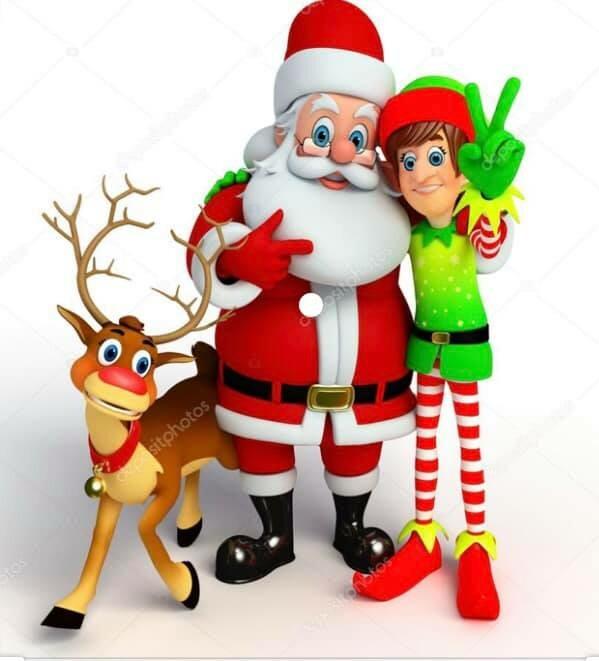 Babbo Natale ed i suoi Elfi a Cavallo