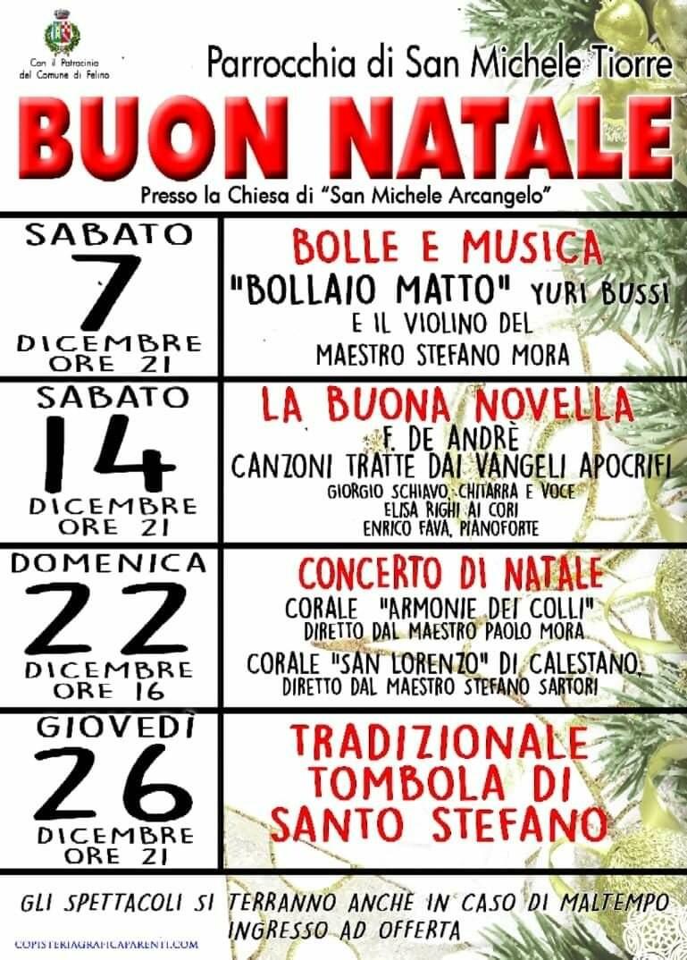 Buon Natale con la Parrocchia di San Michele Tiorre : concerto di Natale