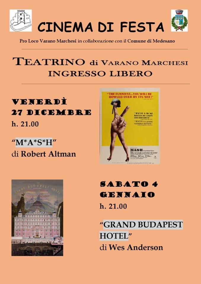 """Al foro civico di Varano Marchesi proiezione del film """"M.A.S.H"""