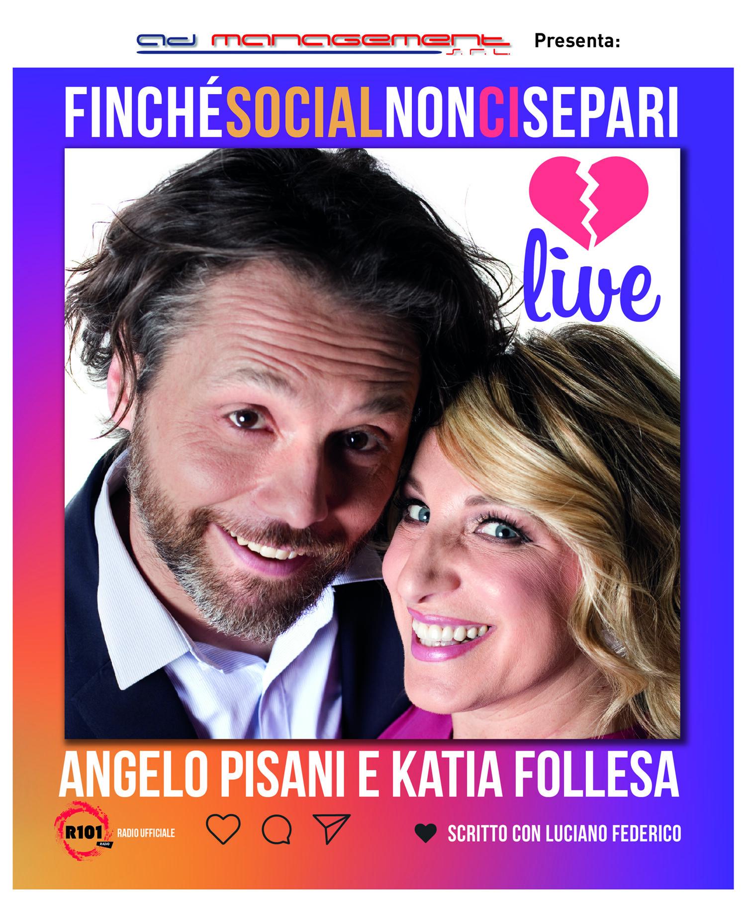 Angelo Pisani e Katia Follesa  Finché social non ci separi al Teatro Nuovo di Salsomaggiore