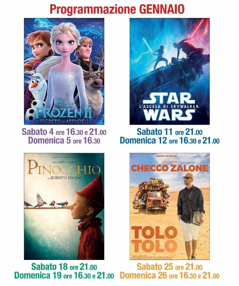 Programma del cinema LUX di gennaio