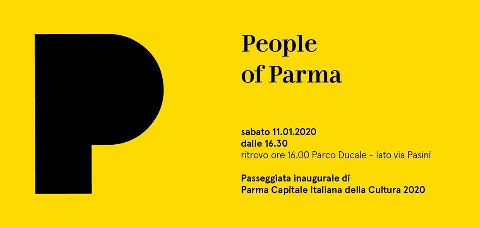 Parma 2020: People of Parma grande parata inaugurale