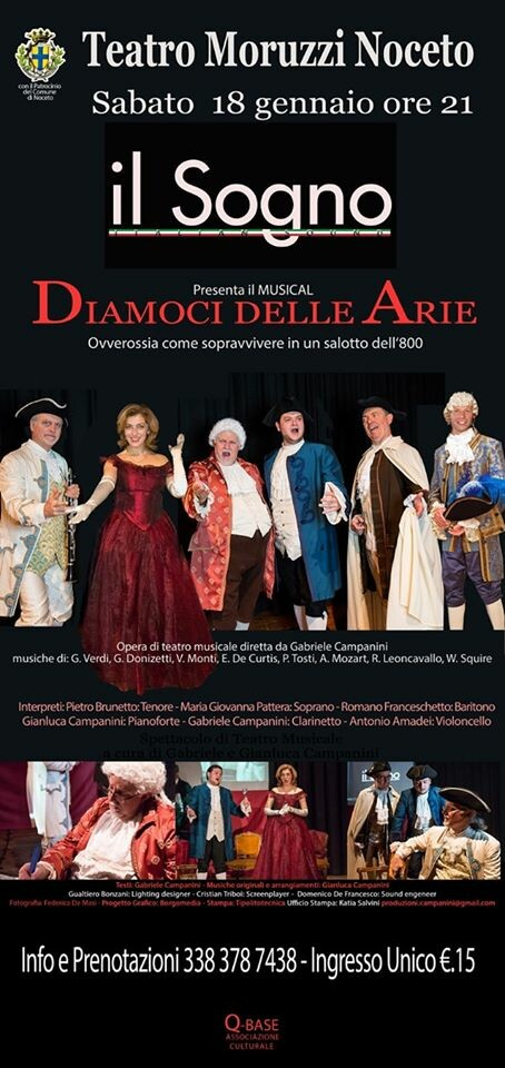 Diamoci delle arie  al Teatro Moruzzi di Noceto