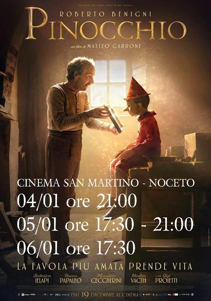 PINOCCHIO  di Matteo Garrone  con: Roberto Benigni al Cinema San Martino Noceto