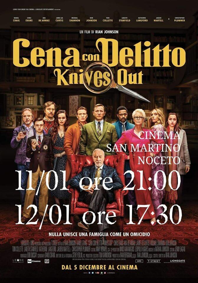 Cena con delitto al cinema San Martino