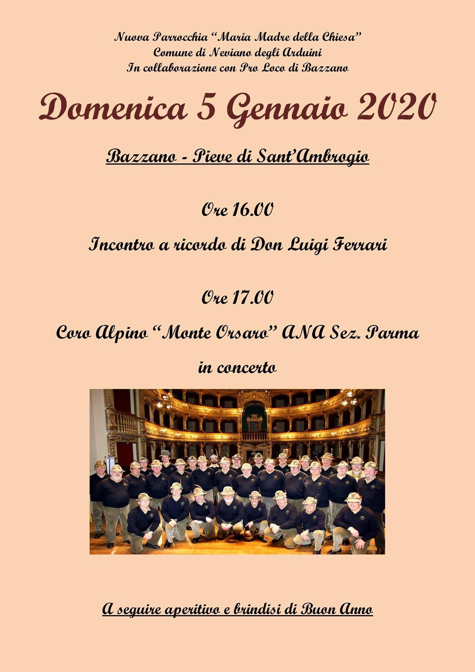 """""""Concerto per il nuovo anno""""  Concerto a cappella nella Pieve di Sant'Ambrogio a Bazzano"""