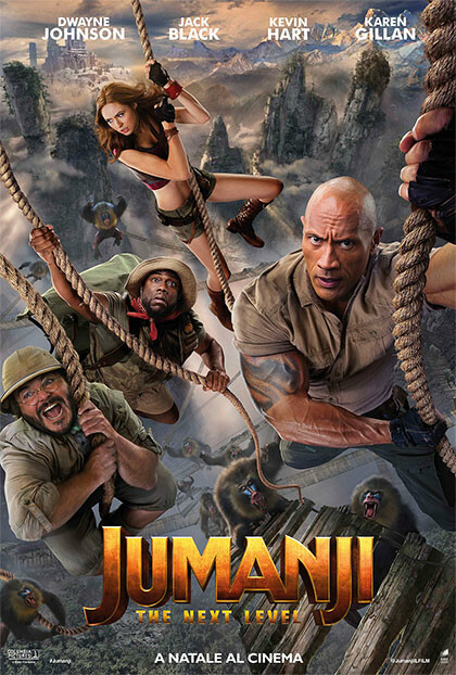 JUMANJI - THE NEXT LEVEL Regia: Jake Casdan al cinema Grand'Italia