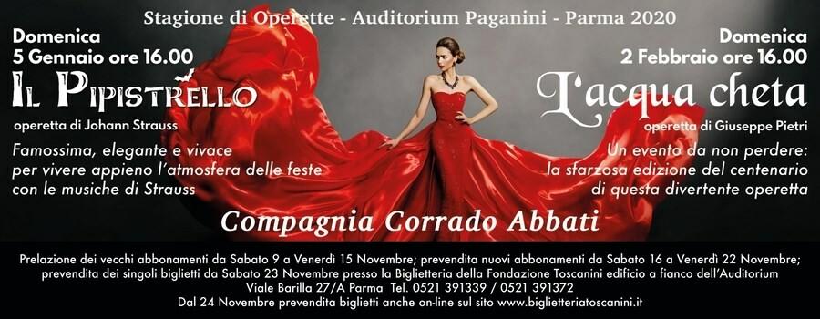 """Stagione di Operette Auditorium Paganini:  """" L'acqua cheta""""  operetta di Giuseppe Pietri"""