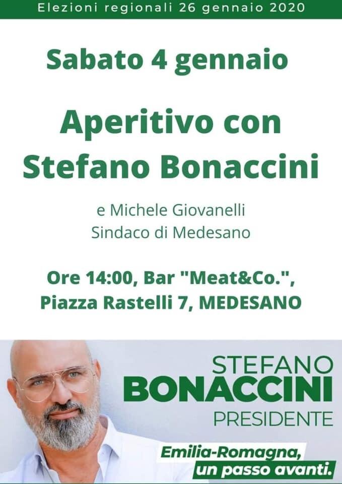 Inontro con STEFANO BONACCINI, Presidente della Regione Emilia-Romagna a Medesano
