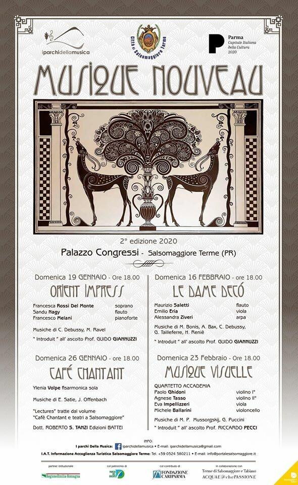 """Rassegna """"MUSIC NOUVEAU"""" al Palazzo dei Congressi di Salsomaggiore Terme"""