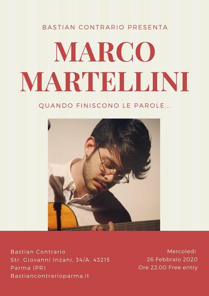 Marco Martellini live a Parma al Bastian Contrario