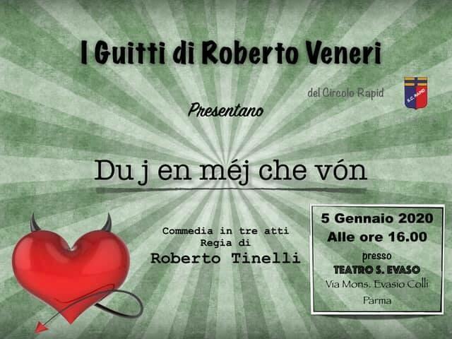 """I Guitti di Roberto Veneri in scena con """"Duj en mej che von"""""""
