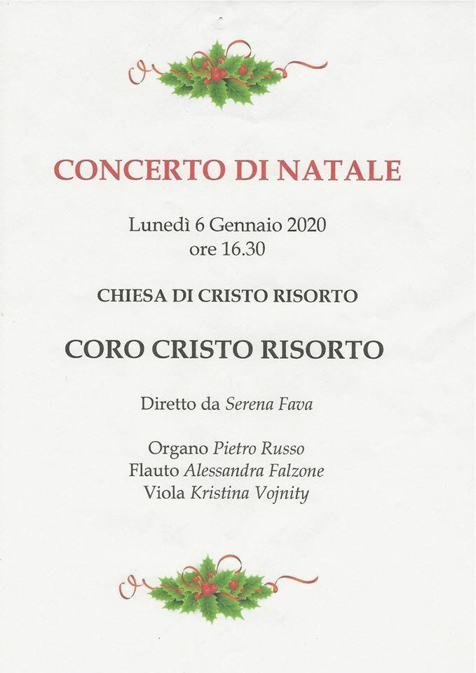 Concerto di Natale nella chiesa CRISTO RISORTO