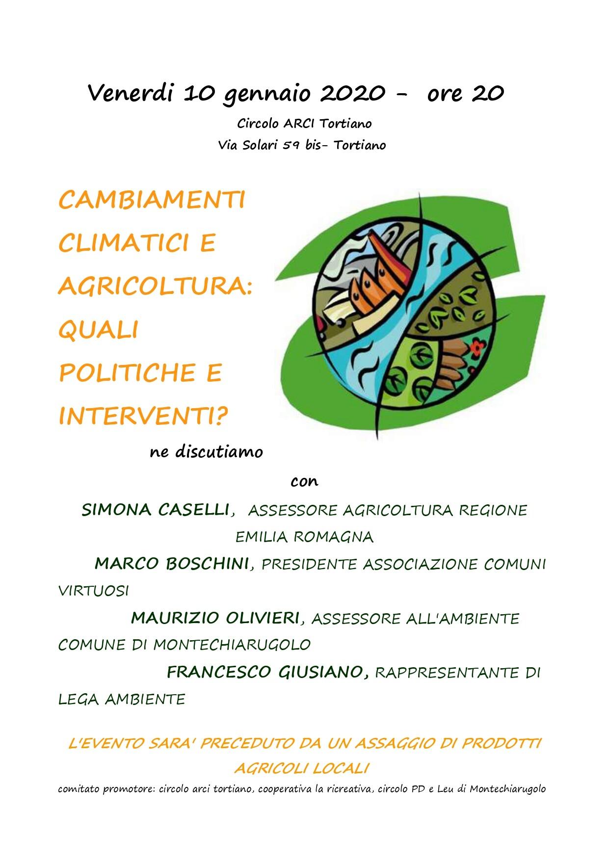 Cambiamenti climatici e agricoltura-quali politiche ed interventi?