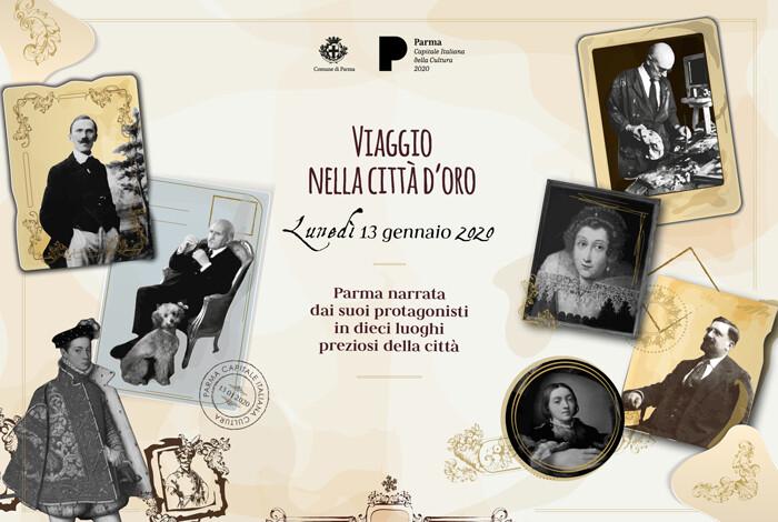 VIAGGIO NELLA CITTÀ D'ORO Un invito a scoprire dieci luoghi preziosi di Parma,  raccontati dalle voci di alcuni dei suoi protagonisti