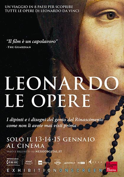 """La grande arte al cinema"":  LEONARDO-LE OPERE  di Phil Grabsky (DocuArte-90') al cinema Astra"