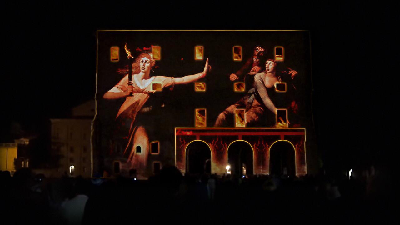 Karmachina partecipa al weekend d'inaugurazione di Parma Capitale Italiana della Cultura 2020 con due spettacoli di videomapping