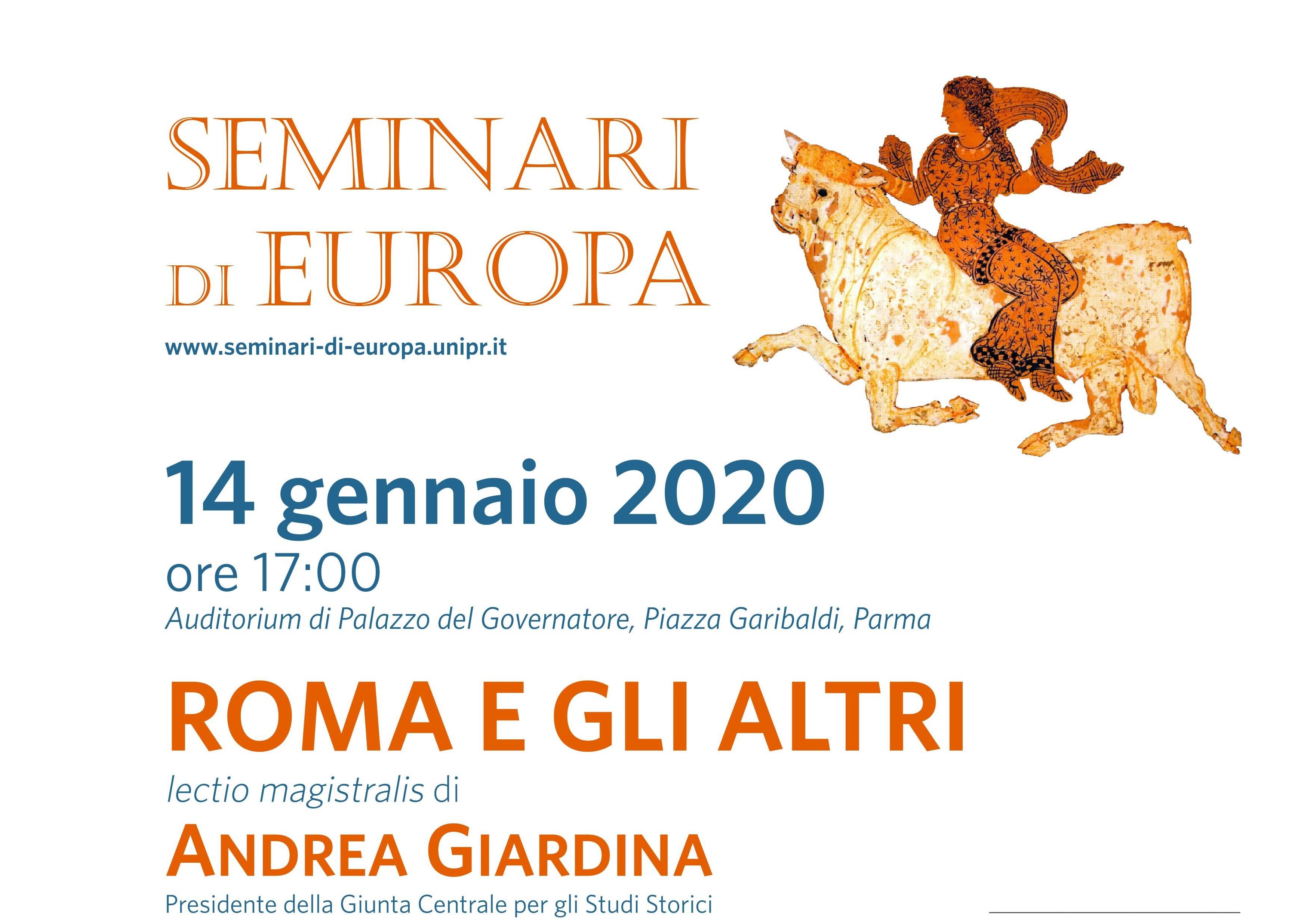 """""""ROMA E GLI ALTRI"""", LECTIO MAGISTRALIS DI ANDREA GIARDINA"""