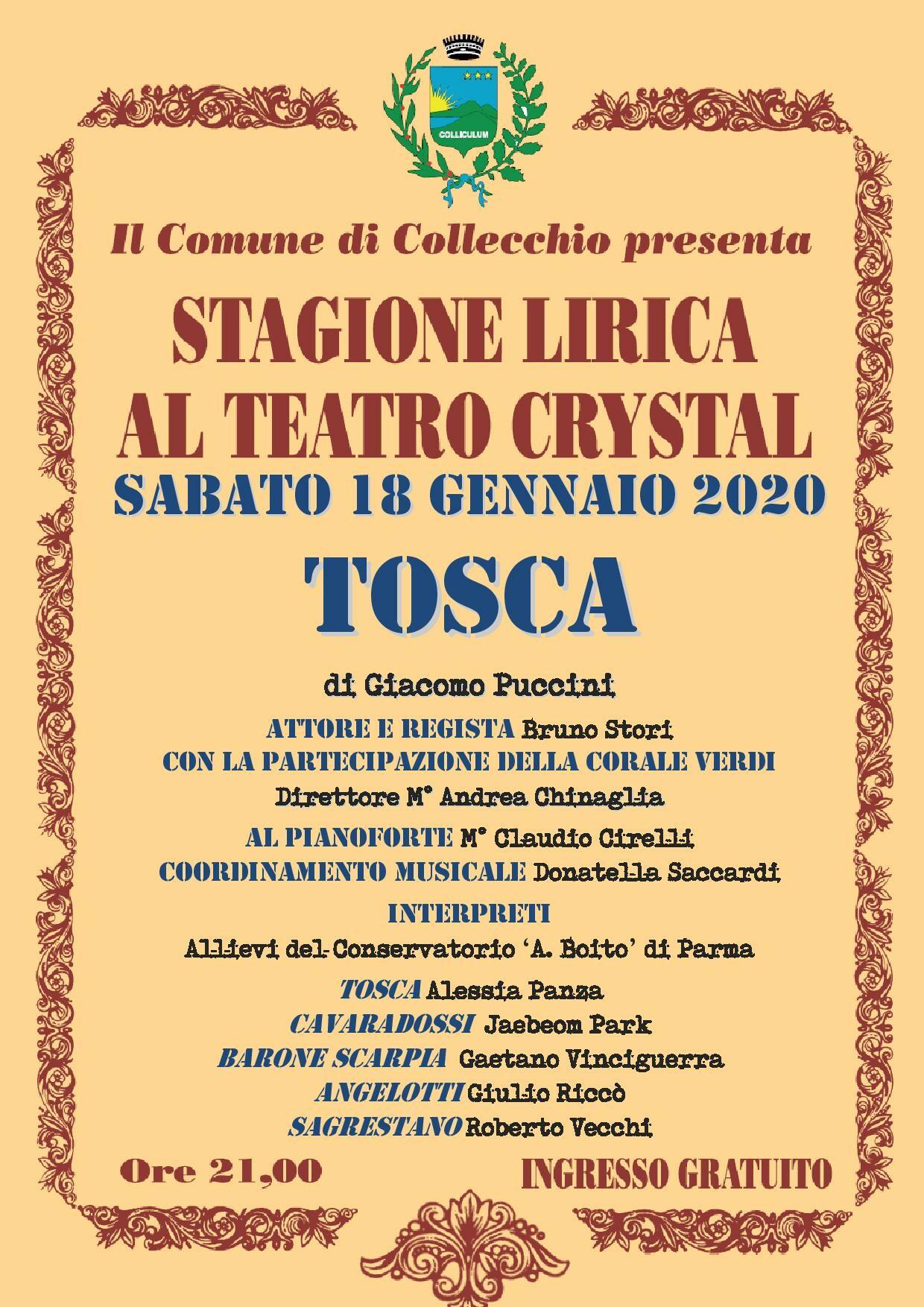 La 'Tosca' al teatro Crystal