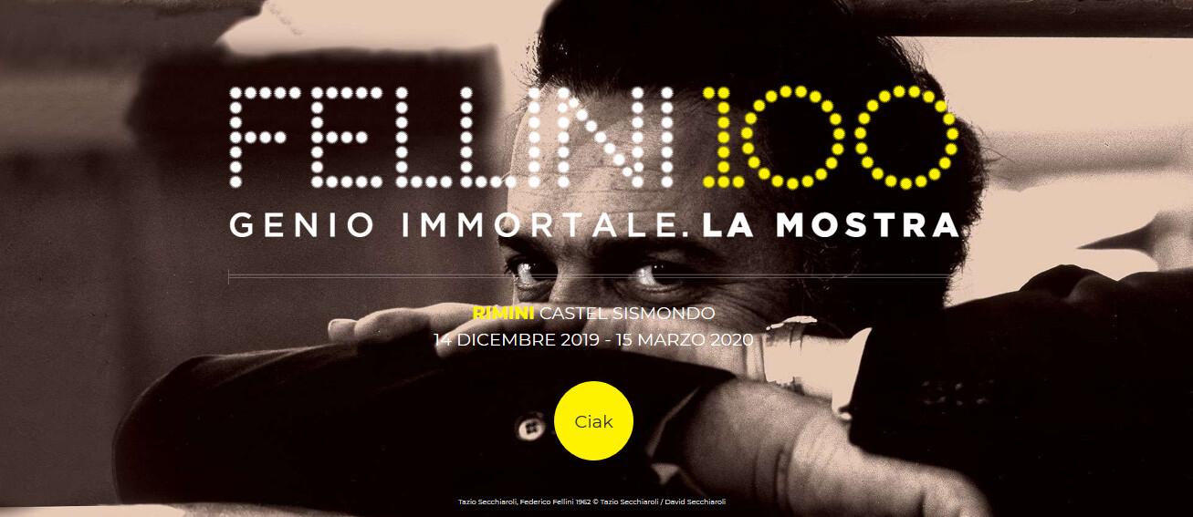 """""""Fellini 100 Genio immortale. La mostra"""". A Castel Sismondo l'esposizione dedicata all'immaginario del Maestro del cinema"""