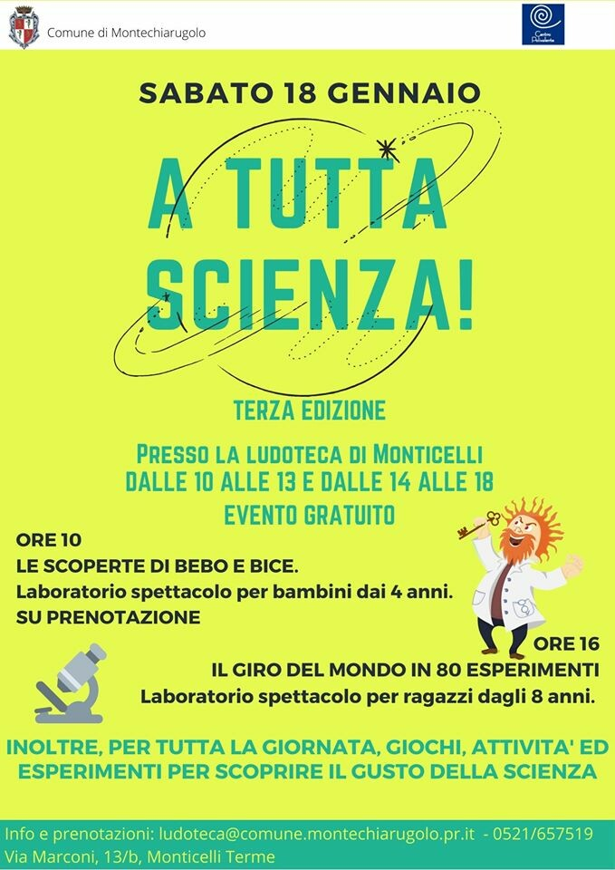 A TUTTA SCIENZA alla Ludoteca di Monticelli Terme